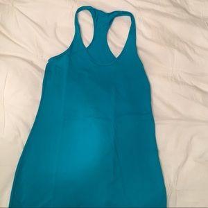 Lululemon turquoise/blue long racer back